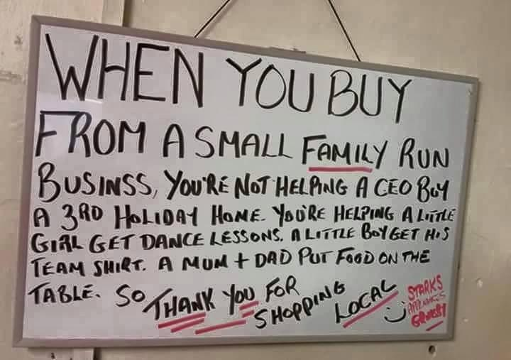 Buy local–for the right reasons!